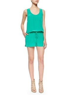 Joie Essonne Sleeveless Silk Short Jumpsuit