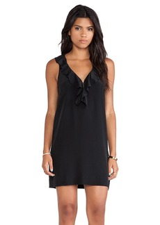 Joie Eulalie Ruffle Dress in Black