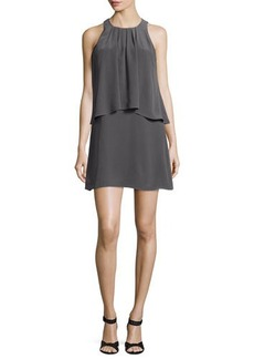 Joie Everla High-Neck Solid Silk Dress  Everla High-Neck Solid Silk Dress