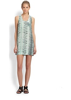 Joie Exclusive Peri Snakeskin Print Silk Dress