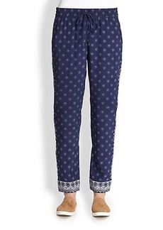 Joie Ferina Silk Printed Track Pants
