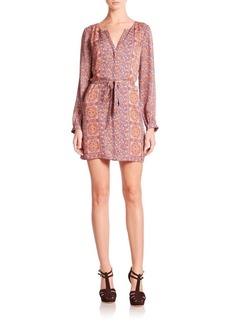 Joie Flanna Floral Silk Dress