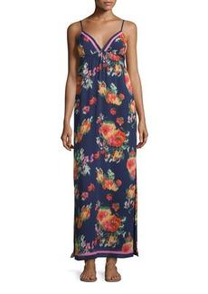 Joie Floral-Print Chiffon Maxi Dress