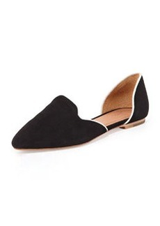Joie Florence Suede d'Orsay Flat, Black/White