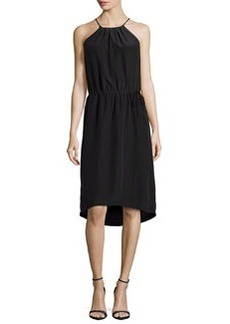 Joie Florilege Grecian Silk Midi Dress, Caviar