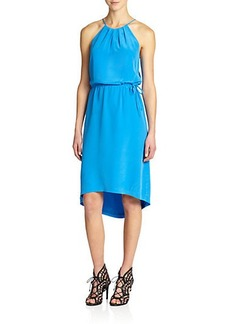 Joie Florilege Silk Halter Dress