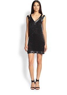 Joie Francoise Beaded Silk Dress