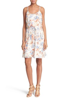 Joie 'Froste' Floral Print Silk Dress