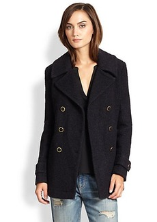 Joie Gabrilyn Double-Breasted Boucle Coat