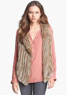 Joie Genuine Rabbit Fur Vest