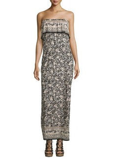 Joie Gilmore Floral Strapless Maxi Dress