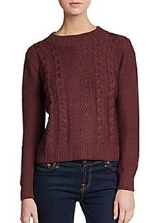 Joie Greer Cable Knit Merino Wool Sweater