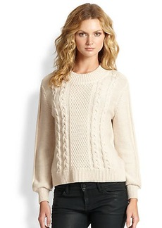 Joie Greer Cable-Knit Wool Sweater