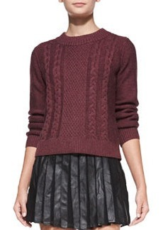 Joie Greer Mixed-Knit Sweater