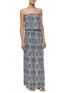 Joie Groovey Printed Strapless Maxi Dress