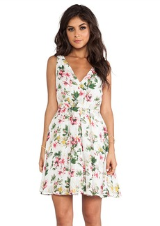 Joie Haliah Cabbage Rose Dress in Ivory