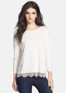 Joie 'Hilano C.' Lace Trim Sweater