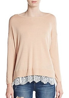 Joie Hilano Lace-Trimmed Sweater