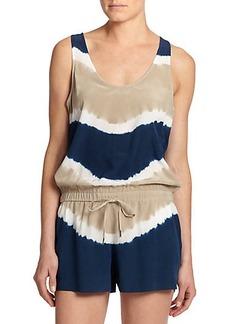 Joie Isidora Silk Tie-Dye Short Jumpsuit