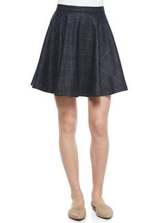 Joie Ivanna A-Line Plaid Swingy Skirt