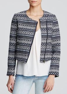Joie Jacket - Darnel Ethnic Diamond Tweed