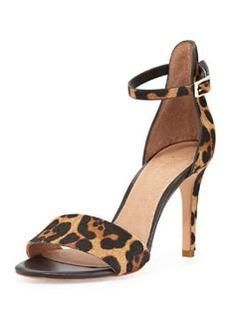 Joie Jaclyn Leopard-Print Calf Hair Sandal, Neutral