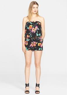 Joie 'Jalliano' Floral Print Silk Romper