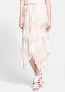 Joie 'Jamilla' Handkerchief Hem Silk Skirt