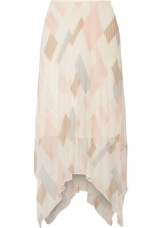 Joie Jamilla pleated printed silk-georgette skirt