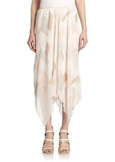 Joie Jamilla Silk Geometric-Print Maxi Skirt