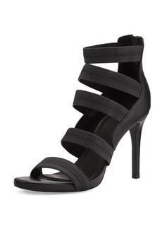 Joie Jana Leather Stretch-Band Sandal, Black