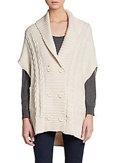 Joie Jancis Cable Knit Merino Wool Cardigan