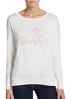 Joie Jensine Flamingo Print Sweater