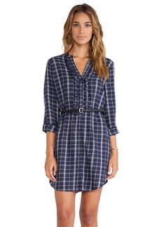 Joie Jessalyn Plaid Dress in Navy