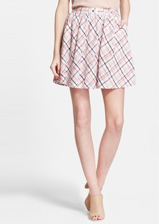 Joie 'Kaylea' Plaid Linen Skirt