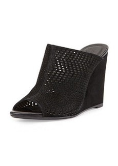 Joie Kellie Perforated Wedge Mule, Black