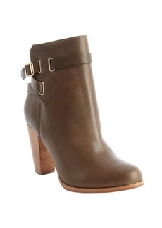 Joie khaki leather 'Easton' ankle boots