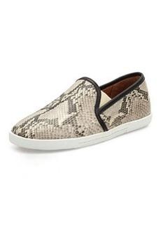 Joie Kidmore Python-Print Slip-On Sneaker, Black/White