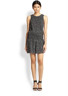 Joie Kieran Leaf-Print Silk Dress