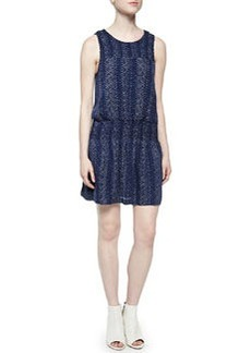 Joie Kieran Sleeveless Blouson Silk Dress
