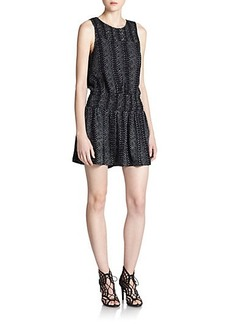 Joie Kieran Snake-Print Dress