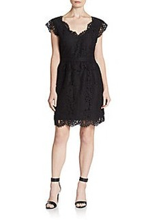 Joie Lebanon Lace Cap-Sleeve Dress