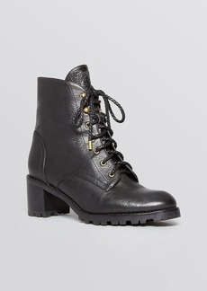 Joie Lace Up Combat Booties - Asbury