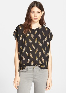 Joie 'Lamia' Feather Print Silk Top