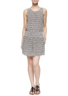 Joie Lawska Printed Sleeveless Blouson Dress
