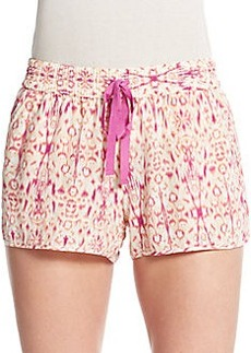 Joie Layana Printed Silk Shorts