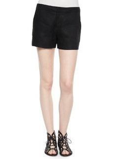 Joie Leiden Solid Linen Shorts, Caviar