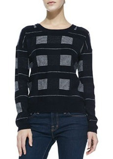 Joie Lette Magnified Plaid Knit Sweater