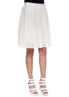 Joie Lissome Pleated Eyelet A-Line Skirt