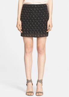 Joie 'Loubelle' Beaded Silk Miniskirt